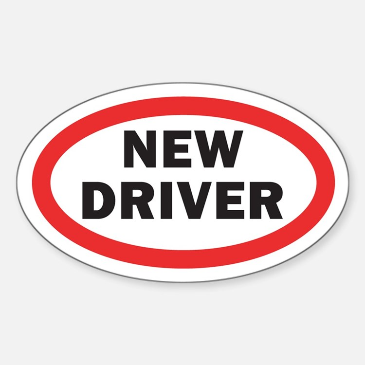 New Driver Oval Decal