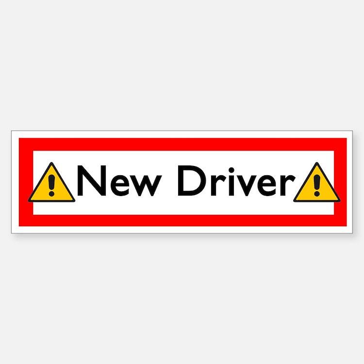 New Driver Bumper Bumper Bumper Sticker