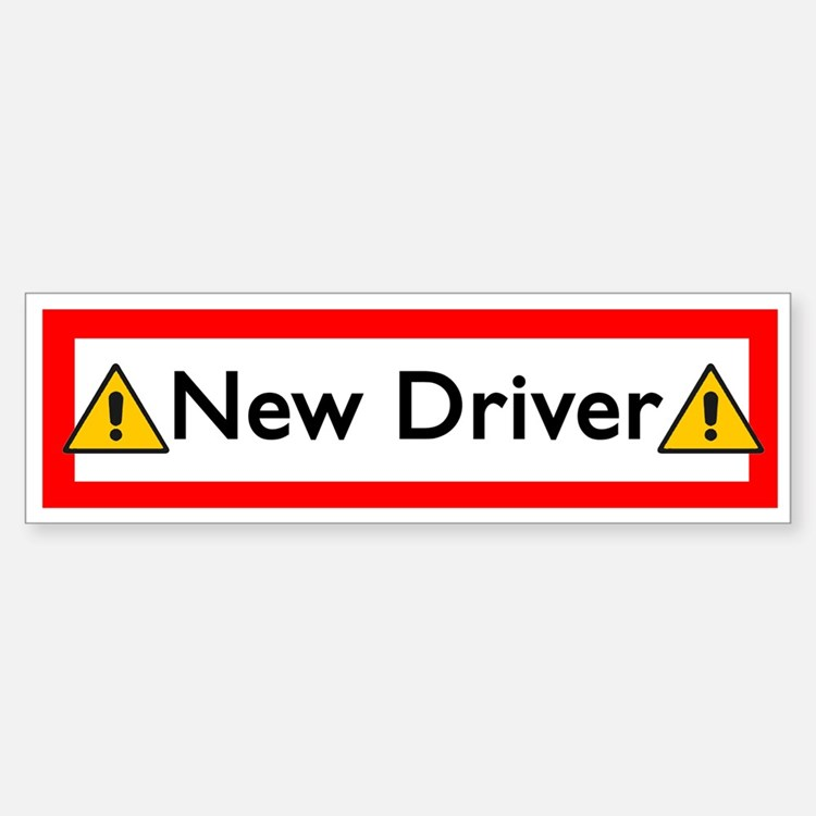New Driver Bumper Car Car Sticker