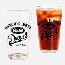 Custom New Dad Drinking Glass