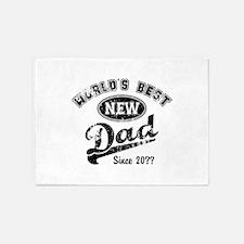 Custom New Dad 5'x7'Area Rug