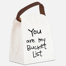 Cute Bucket Canvas Lunch Bag