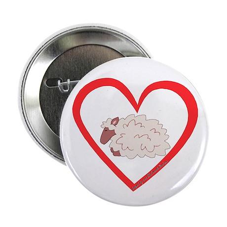 """Sheep Heart 2.25"""" Button (10 pack)"""