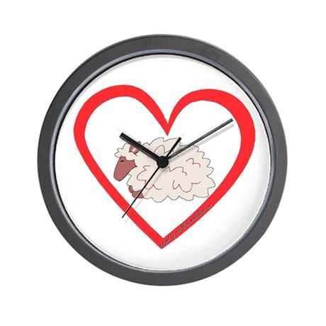Sheep Heart Wall Clock
