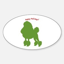 Happy Holidays! Oval Decal