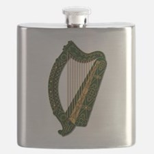 Harp - Ireland Coat Of Arms - 2 Flask