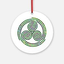 Triple Spiral - 10 Ornament (Round)
