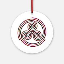 Triple Spiral - 9 Ornament (Round)