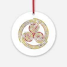 Triple Spiral - 5 Ornament (Round)