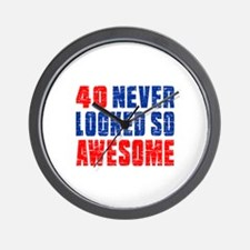 40 Never looked So Much Awesome Wall Clock