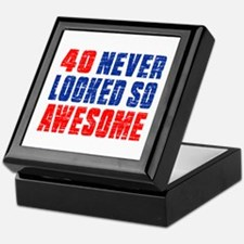40 Never looked So Much Awesome Keepsake Box