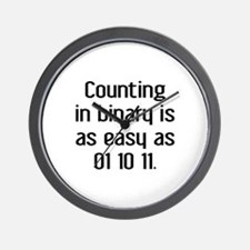 Counting In Binary Wall Clock