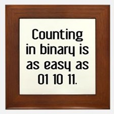 Counting In Binary Framed Tile