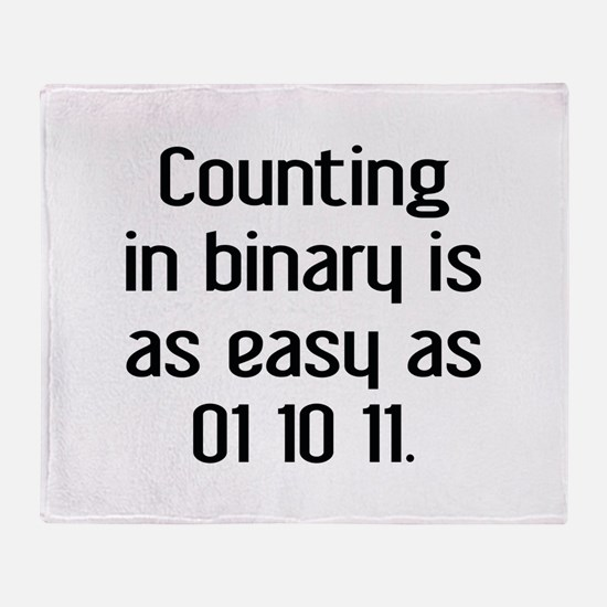 Counting In Binary Stadium Blanket