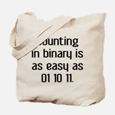 Counting In Binary Tote Bag