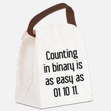 Counting In Binary Canvas Lunch Bag