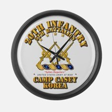 5th BN - 20th INF - Camp Casey - Large Wall Clock