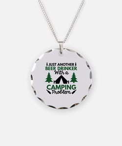 Beer Drinker Camping Necklace