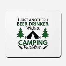 Beer Drinker Camping Mousepad