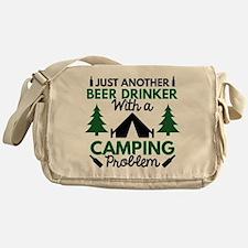Beer Drinker Camping Messenger Bag