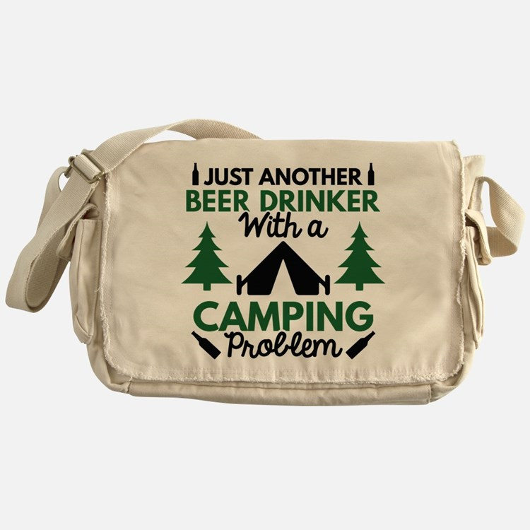 Beer Drinker Camping Messenger Bag