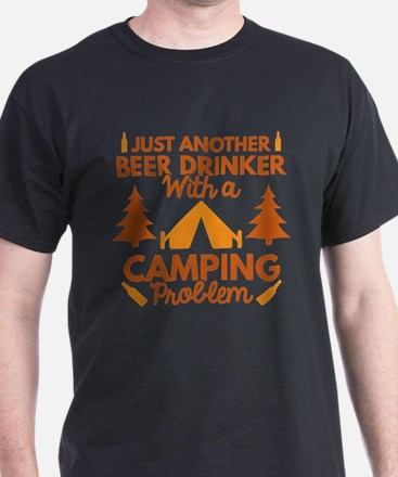 Beer Drinker Camping T-Shirt