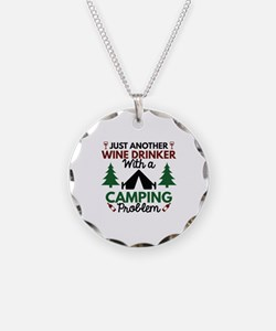 Wine Drinker Camping Necklace