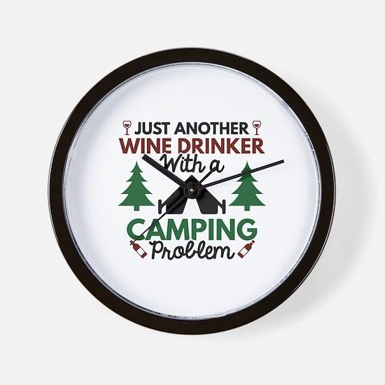 Wine Drinker Camping Wall Clock