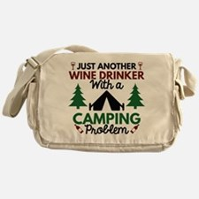 Wine Drinker Camping Messenger Bag