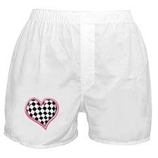 Racing Heart Pink Boxer Shorts
