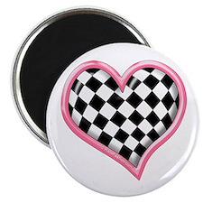 Racing Heart Pink Magnet