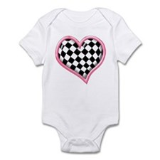 Racing Heart Pink Infant Bodysuit
