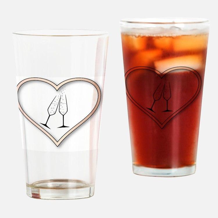 Cute Wedding congratulations Drinking Glass