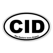 The Eastern Iowa Airport Oval Decal
