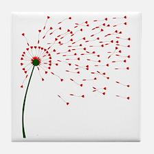 Cute Dandelion flower seed Tile Coaster