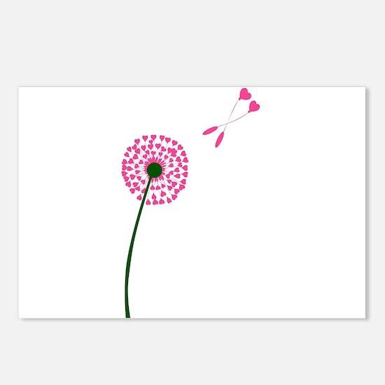 Dandelion Heart Seed Love Postcards (Package of 8)
