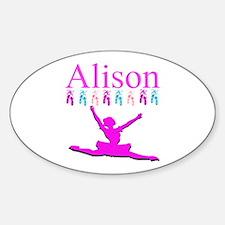 PERSONALIZED DANCE Sticker (Oval)