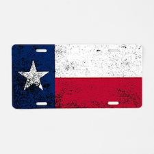 Unique Texas white Aluminum License Plate