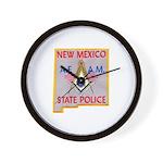 New Mexico SP Masons Wall Clock