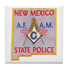 New Mexico SP Masons Tile Coaster