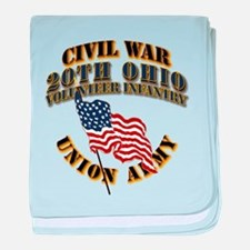 20th Ohio Volunteer Infantry baby blanket
