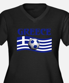 TEAM GREECE WORLD CUP Women's Plus Size V-Neck Dar