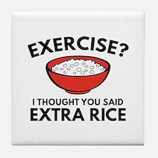 Exercise ? Extra Rice Tile Coaster