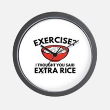 Exercise ? Extra Rice Wall Clock