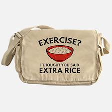 Exercise ? Extra Rice Messenger Bag