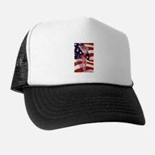 4th Of July Flag Pin Up Lady Trucker Hat