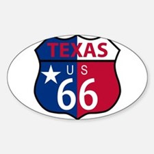 Route 66 Texas sign and flag Decal