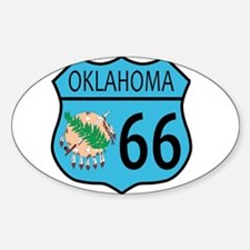 Route 66 Oklahoma sign and Flag Decal