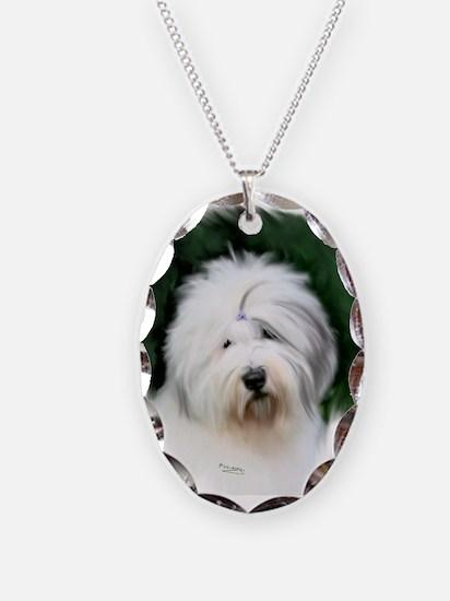 old english sheepdog portrait Necklace