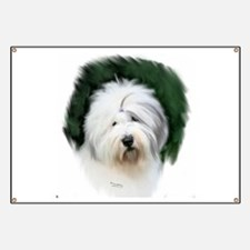 old english sheepdog portrait Banner